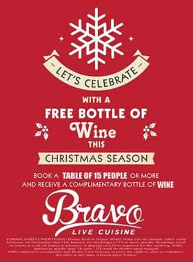 Bravo Live Cuisine Christmas Opening Hours