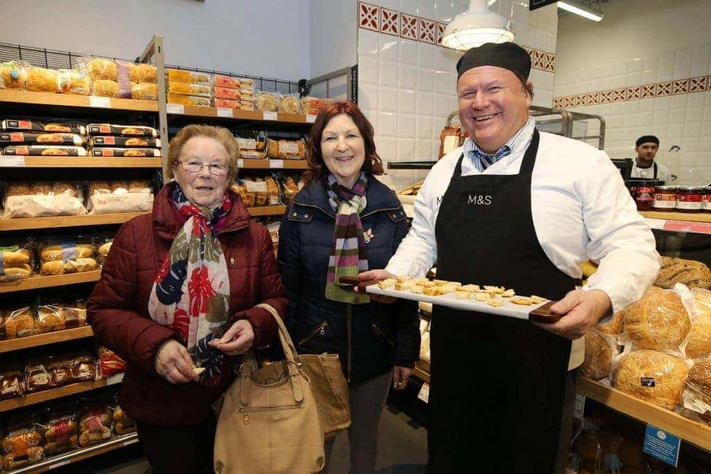 mary carr and angela kearney celebrate the opening of ms newry on thursday february 1st