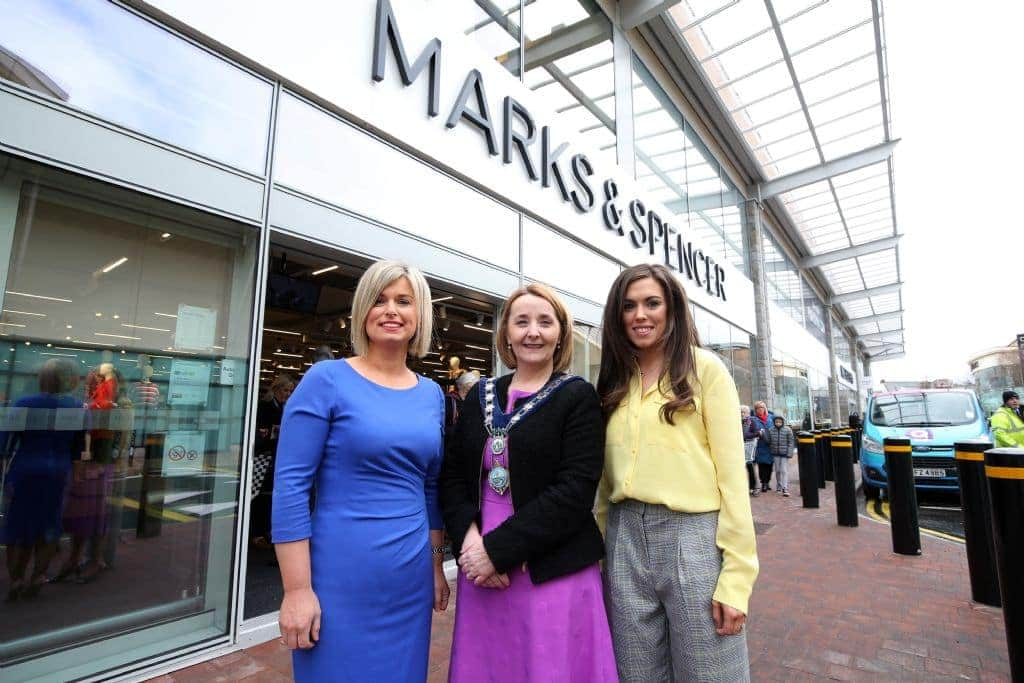ms newry 1 - grainne little ms newry commercial manager and siobhan ruck ms newry store manager open the new ms newry at the quays alongside councillor roisin mulgrew